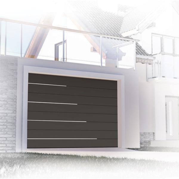 Exemple de design d'une porte de garage basculante
